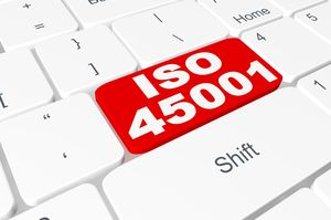 "Keyboard with button ""ISO 45001"""